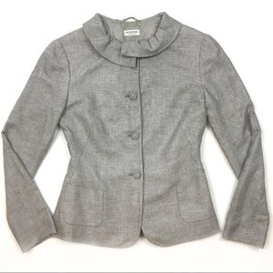 AGNONA jacket button front gray wool flannel